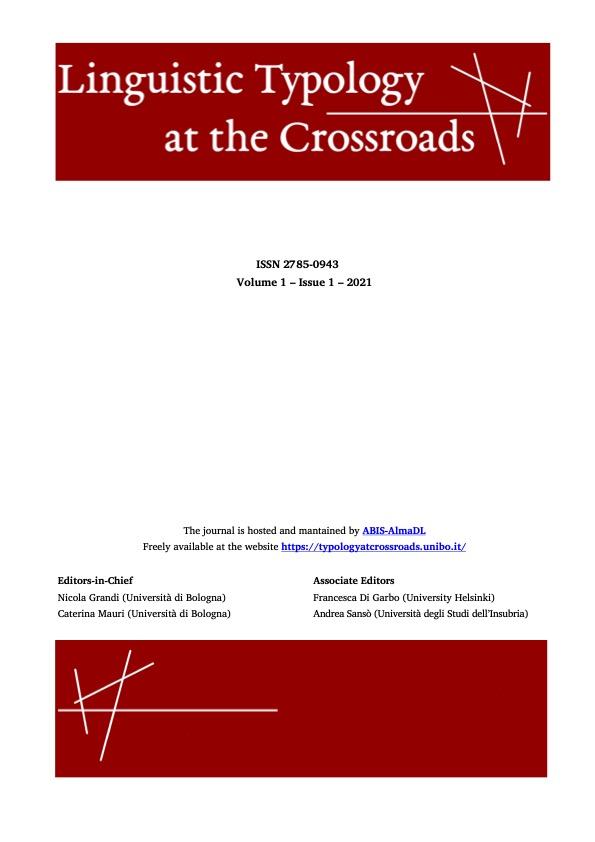 View Vol. 1 No. 1 (2021): Comparative Constructions across languages